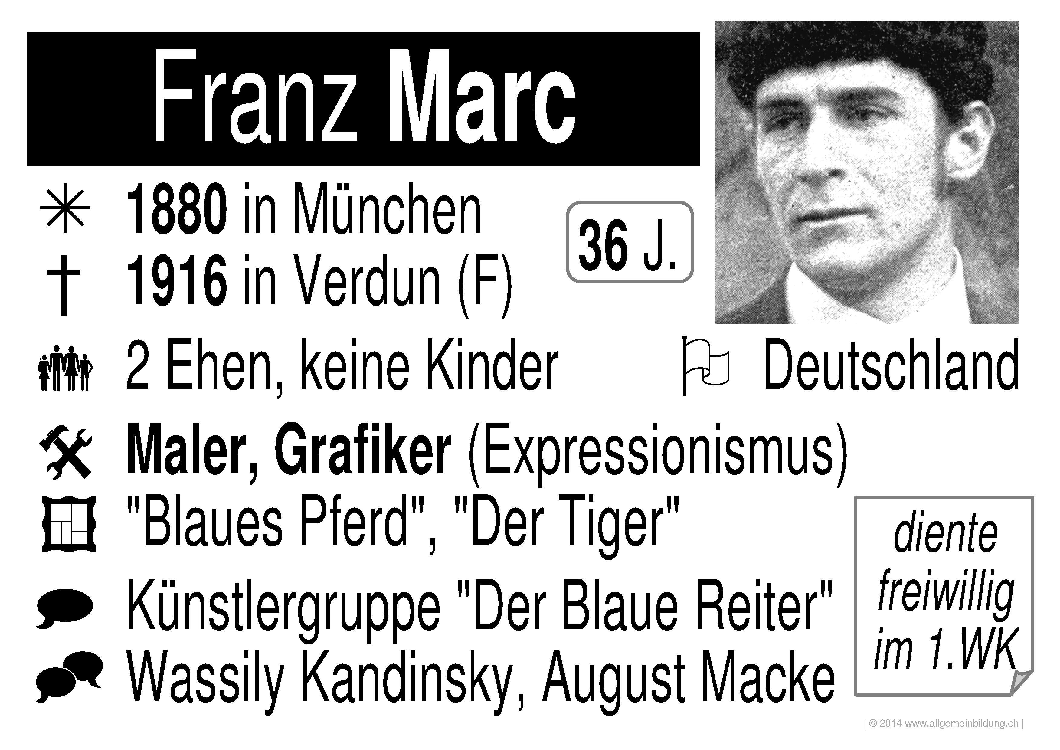 Franz Marc Biografie Lebenslauf Bekannte Werke Und Einfluss