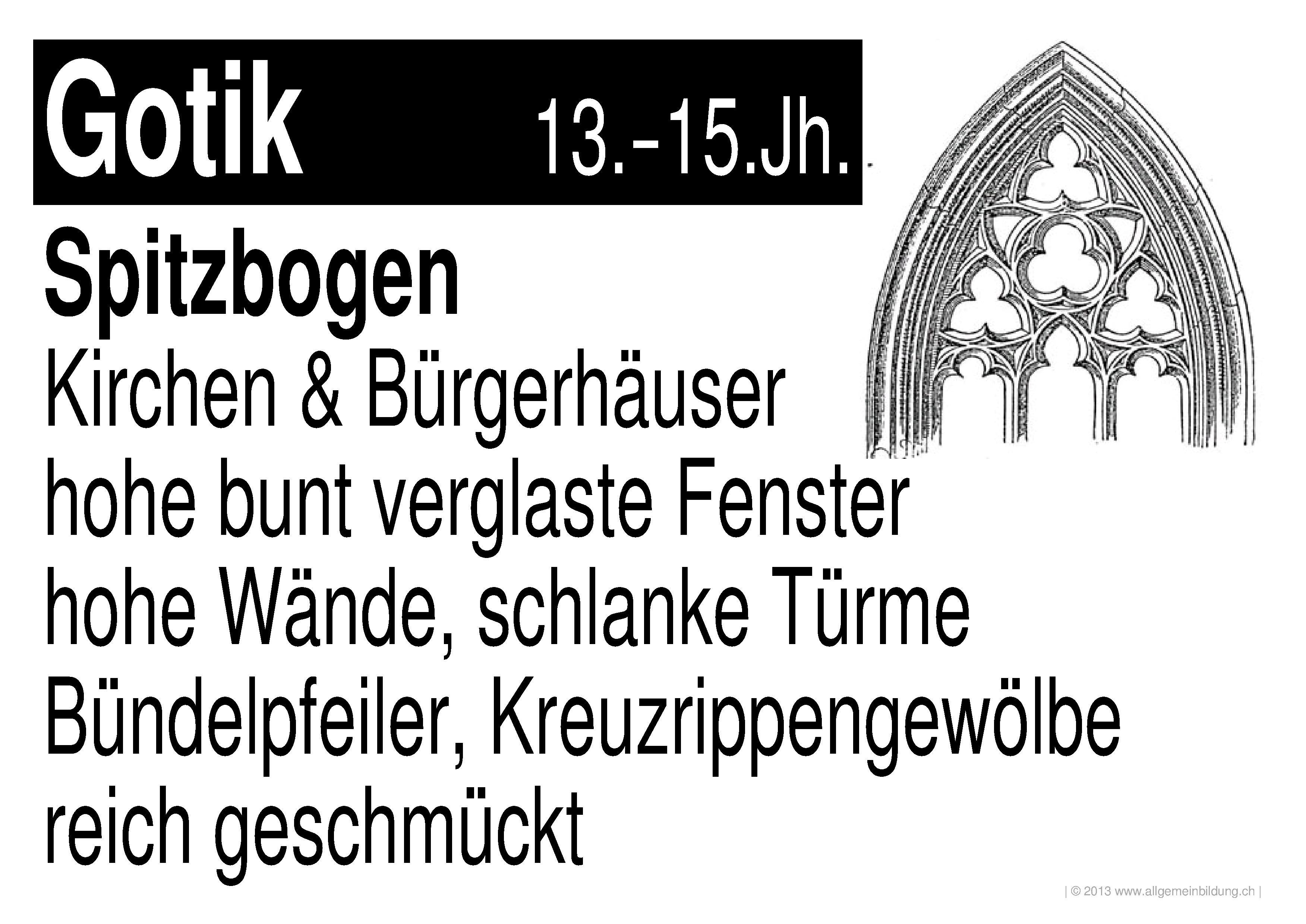 Merkmale Der Gotik : kunst kultur lernplakate wissensposter merkmale der ~ Lizthompson.info Haus und Dekorationen