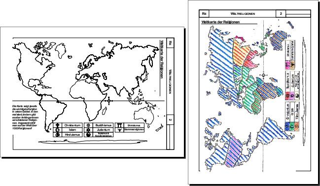 Weltreligionen Weltkarte Der Religionen Gratis Religion