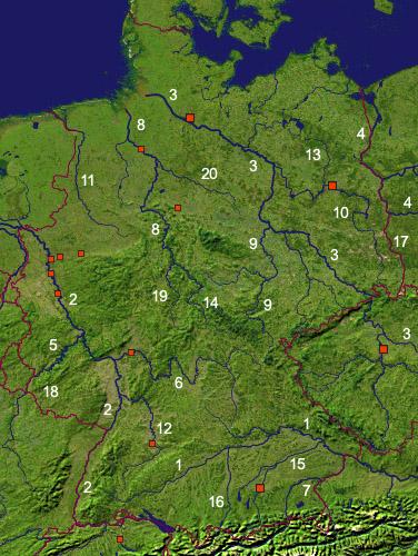 Arbeitsblatt Hessen Gebirge Flüsse : Geografie deutsche flüsse i a lernen üben